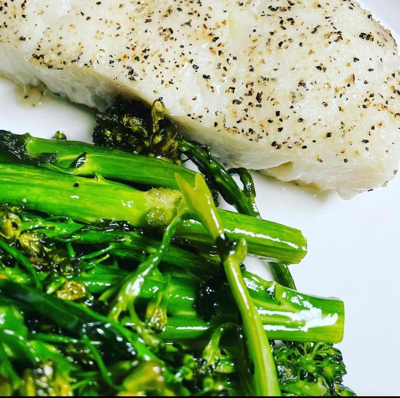 Simple Sea Bass & Broccolini